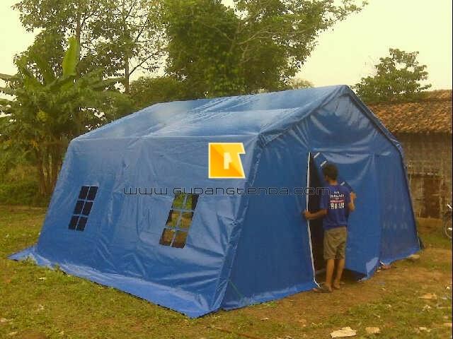 Tenda posko, tenda barak, tenda pengungsian, tenda TNI
