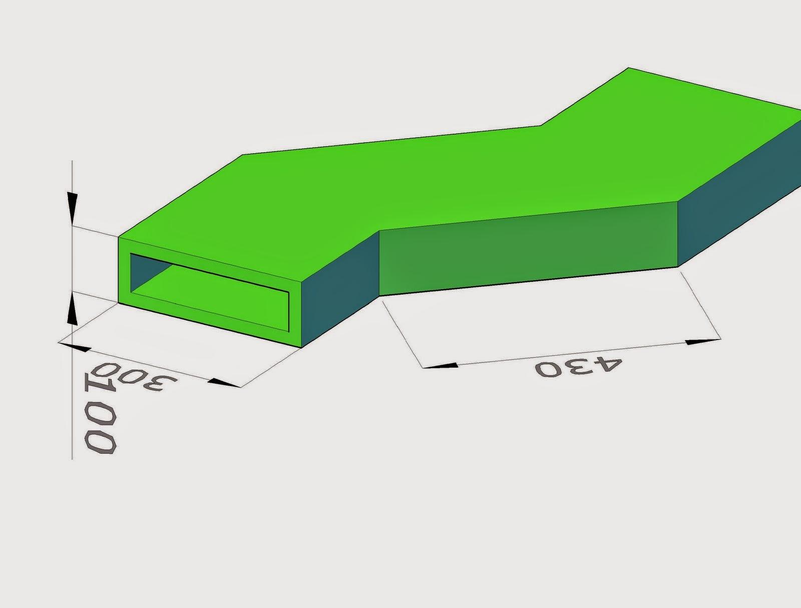 Realización de la figura del quiebro en conductos para aire acondicionado