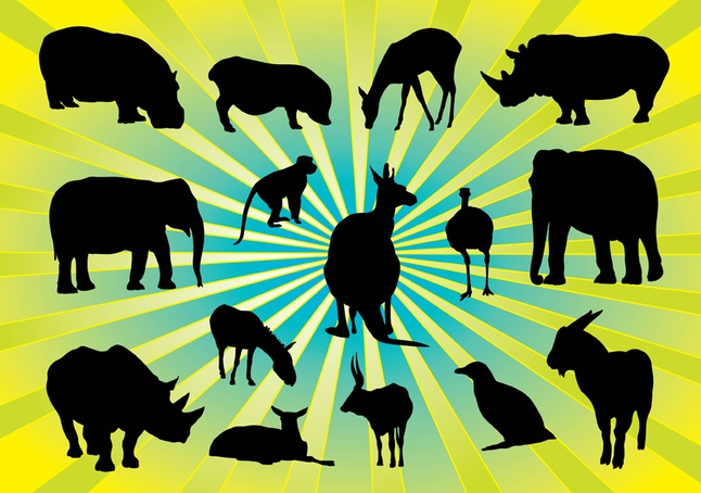 Free Vector Animal Silhouettes Pack Download