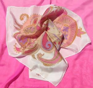 foulard rosa antico e cipria