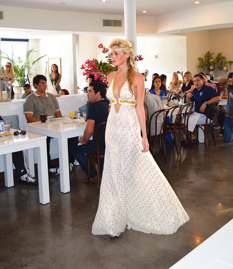 model wearing tanya marie at egg and dart