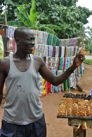 ткань, батик, африка, гана