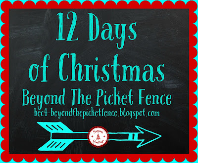 christmas projects, DIY, 12 days of christmas, http://bec4-beyondthepicketfence.blogspot.com/2015/11/12-days-of-christmas-day-3-christmas.html