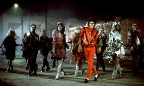 Micheal Jackson dancing in Thriller video