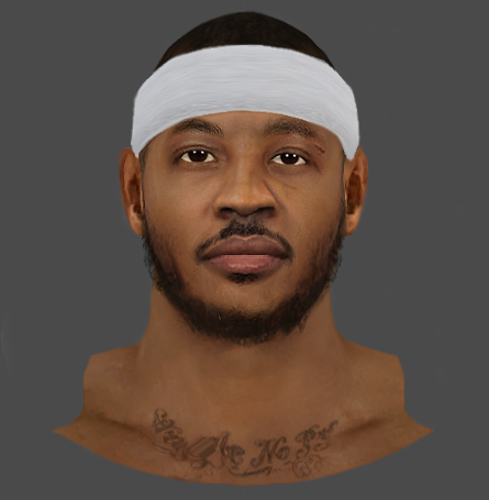NBA 2K14 Carmelo Anthony HD Face w/ 3D Beard Mod