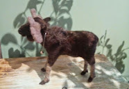 Needle Felted Fibre Art ~ moose