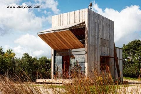 Cabina de madera diseño contemporáneo
