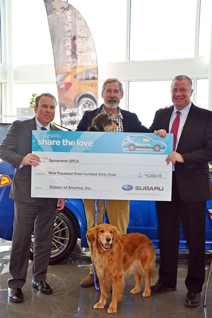 Elk Grove Car Dealer Donates over $9k to SPCA | Elk Grove ...