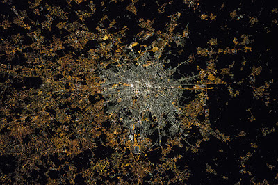 City center of Milano. NASA/ESA image was taken by Samantha Cristoforetti