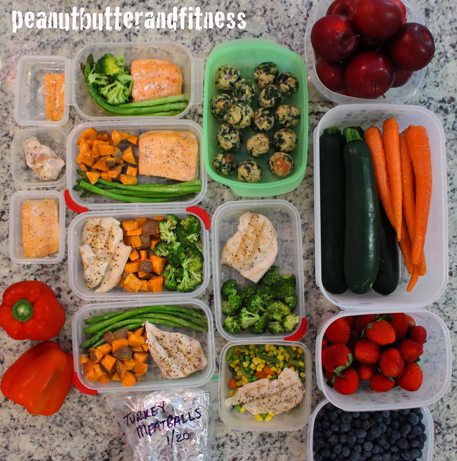 Peanut butter and fitness meal prep 101 and 1 week meal prep