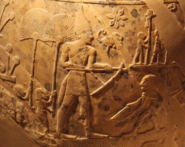 musée tête de massue égyptienne art Egypte du roi scorpion NARMER