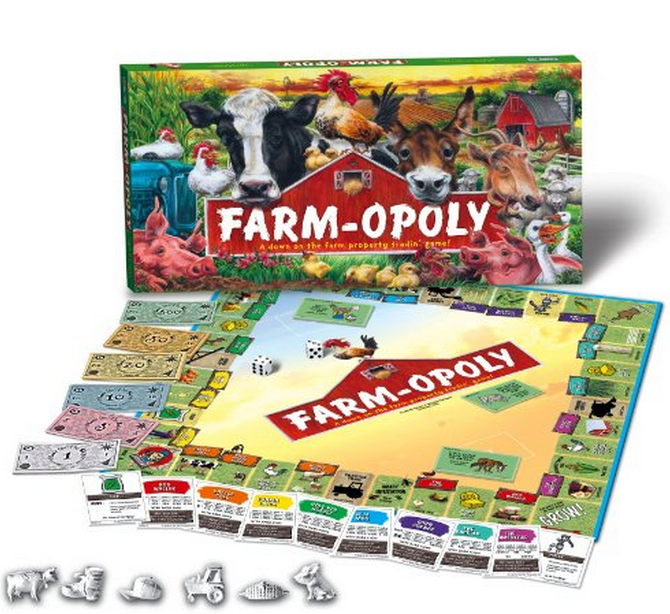 Farming Game Farmopoly - Monopoly Farm based economic game available through Amazon Canada from 25.01
