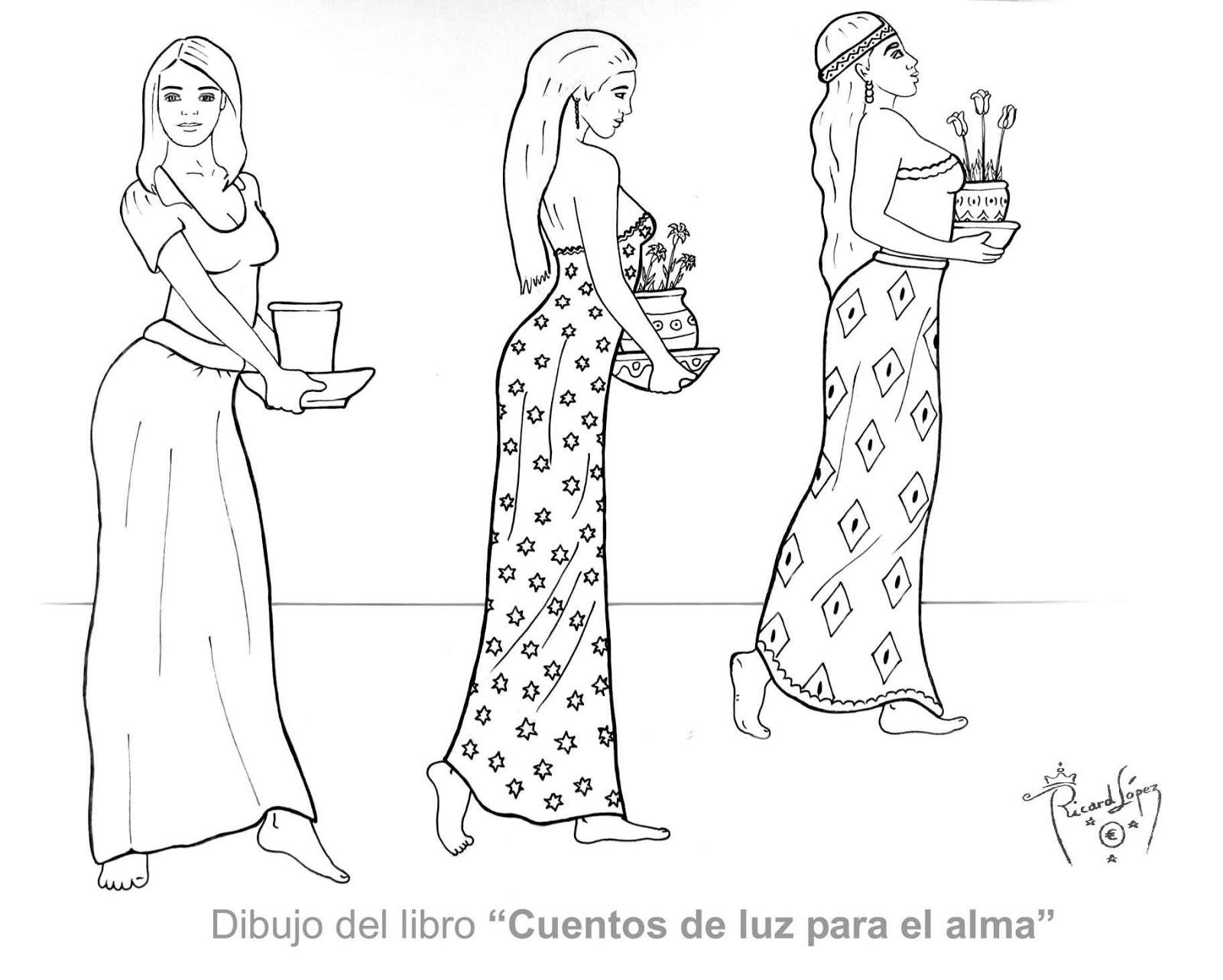 Dibujos muy originales para colorear de Ricard López: Dibujo de tres ...