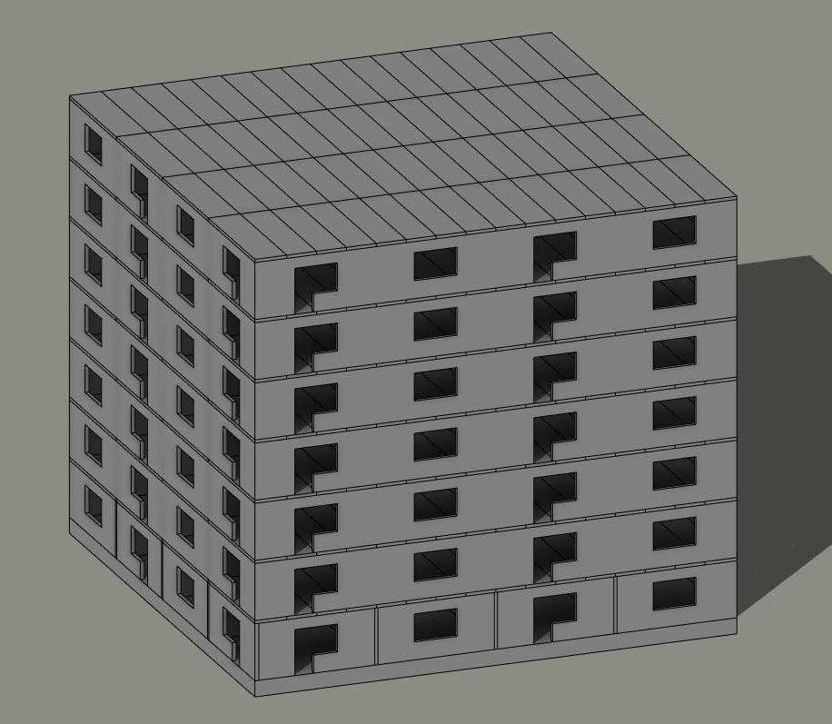 Расчет панельного здания