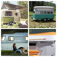 Fiberglass Camper Collage (HC-1, Dub Box, Nest Caravan, American Dream)