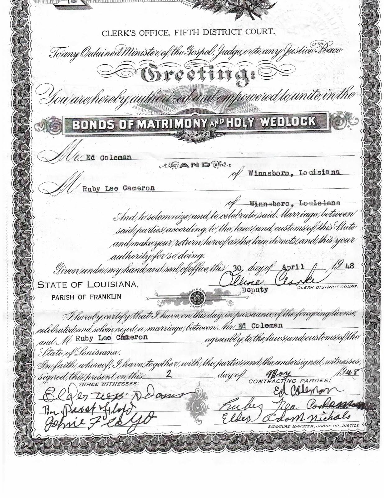 La county marriage license application