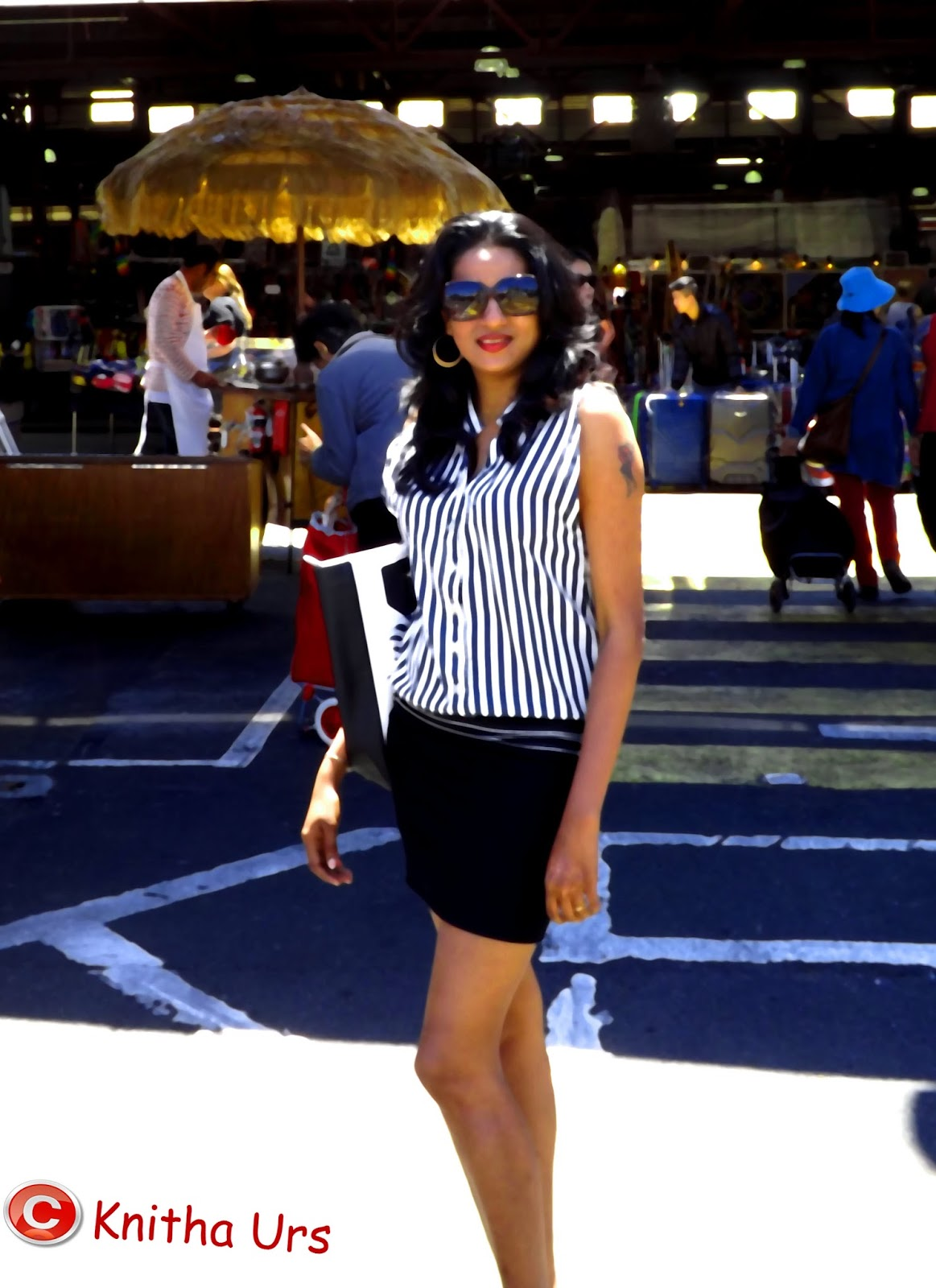Street fashion on Melbourne streets- Victoria Market
