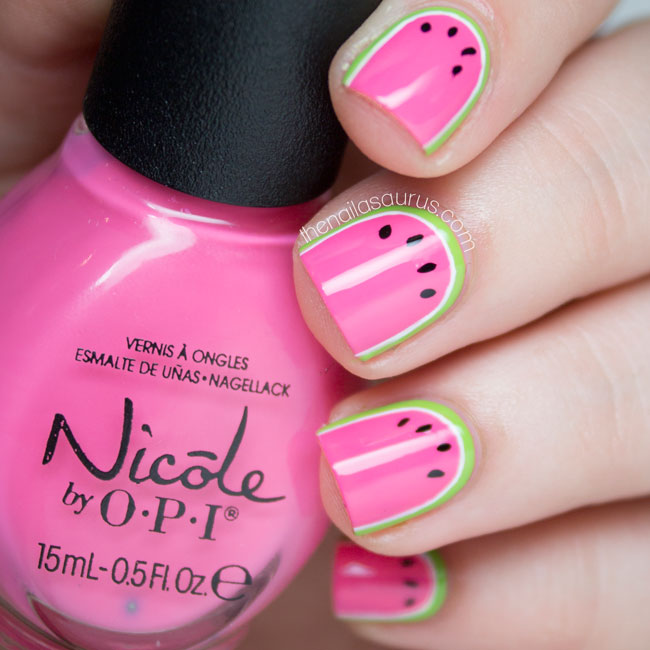 Been Dranking... Watermelon - The Nailasaurus | UK Nail Art Blog
