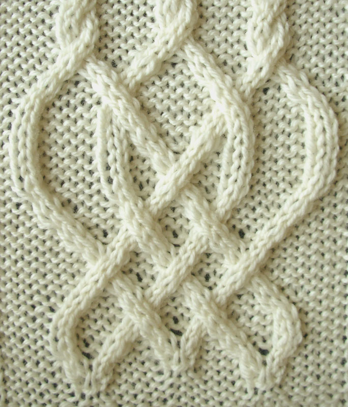 Knitting Starting Knot : Ivanova and carter knit celtic knot