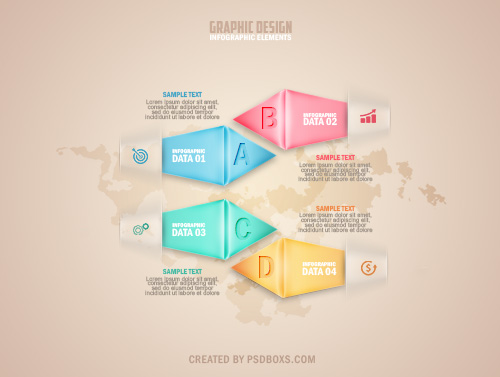 Free PSD Modern Infographic Options Banner Template