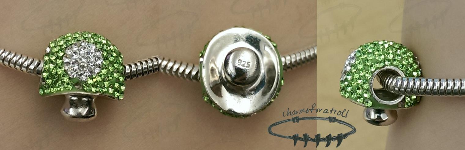 Bling Mushroom Charm Bead