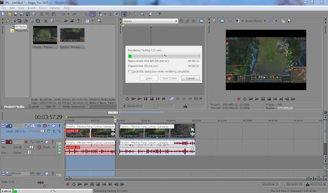 Sony Vegas Video editor is easy to render