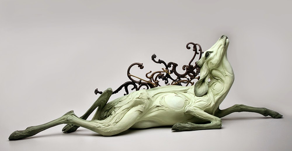 ceramic animal sculptures beth cavener stichter