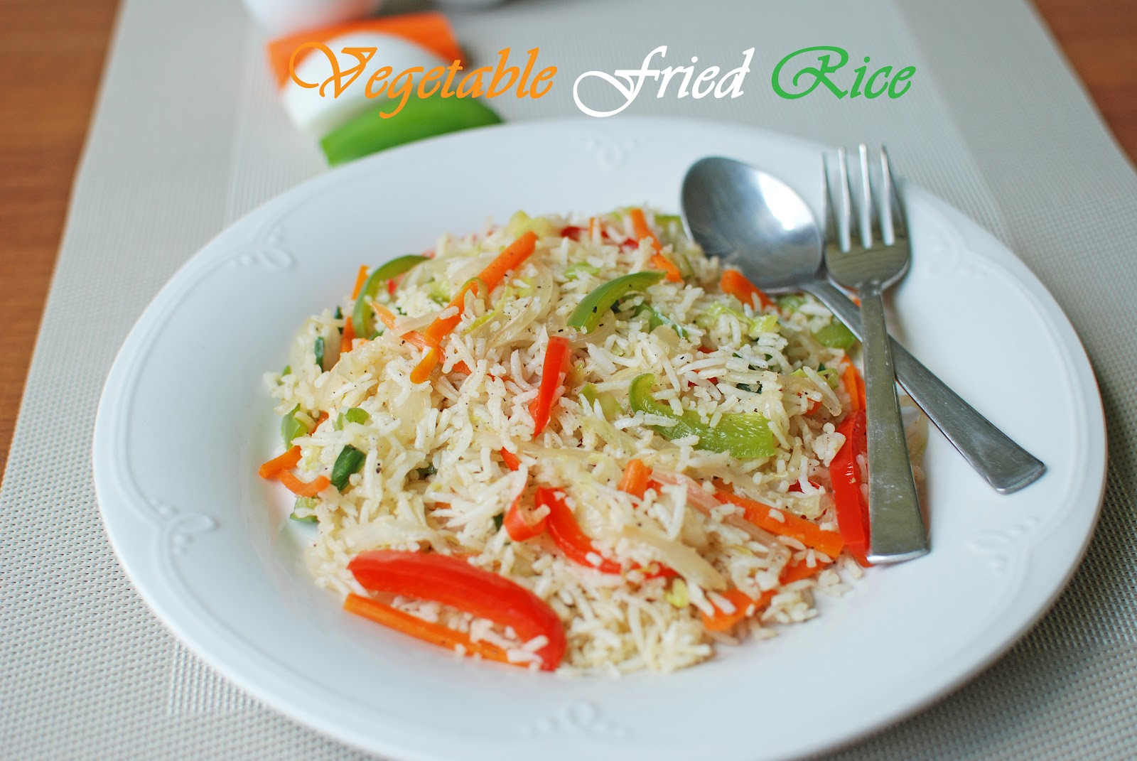 Vegetable Fried Rice ~ From My Home Kitchen