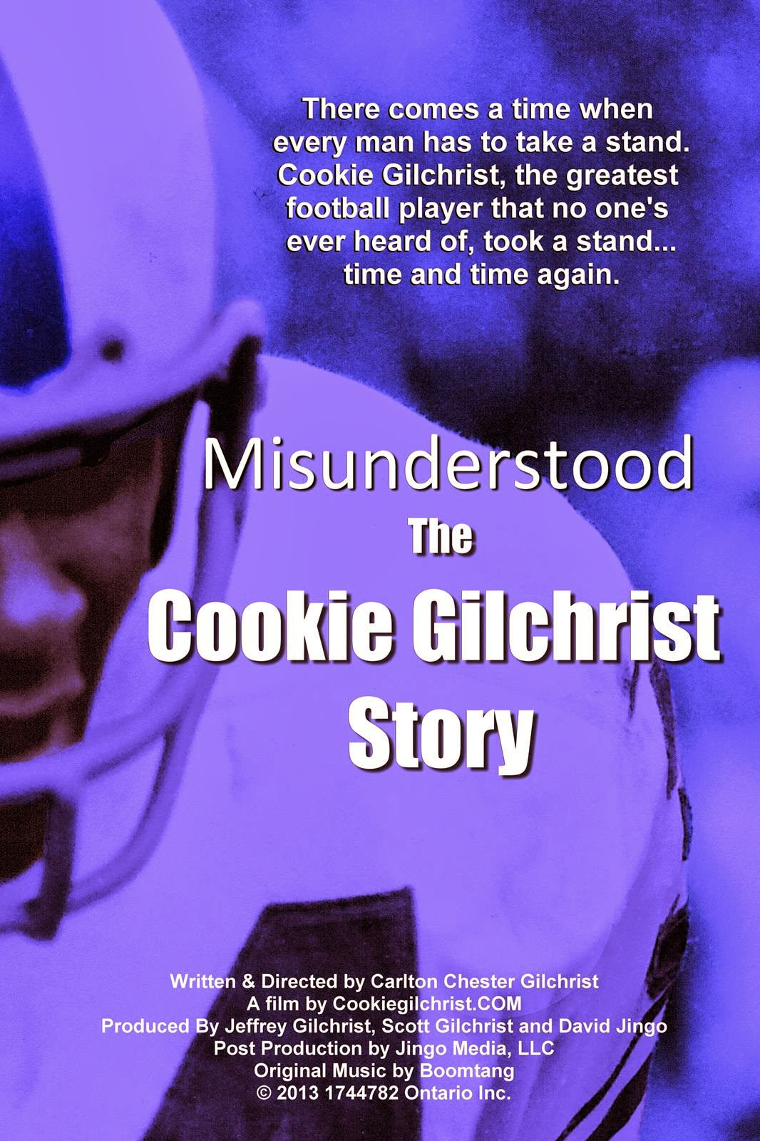 film poster for Misunderstood: The Cookie Gilchrist Story