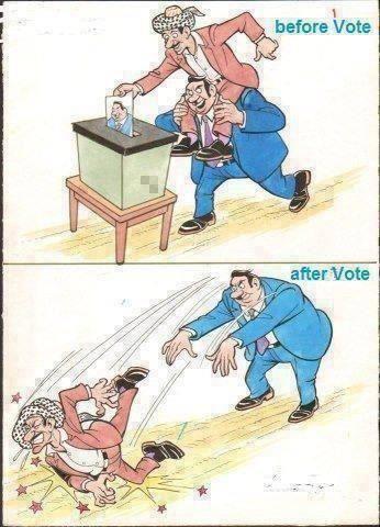 Perangai sebenar ahli politik sebelum dan selepas pilihanraya