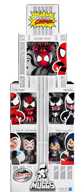 New York Comic-Con 2011 Exclusive Spider-Man Maximum Carnage Marvel Mini Mighty Muggs Box Set – Spider-Man, Carnage, Venom, J. Jonah Jameson & Demogoblin