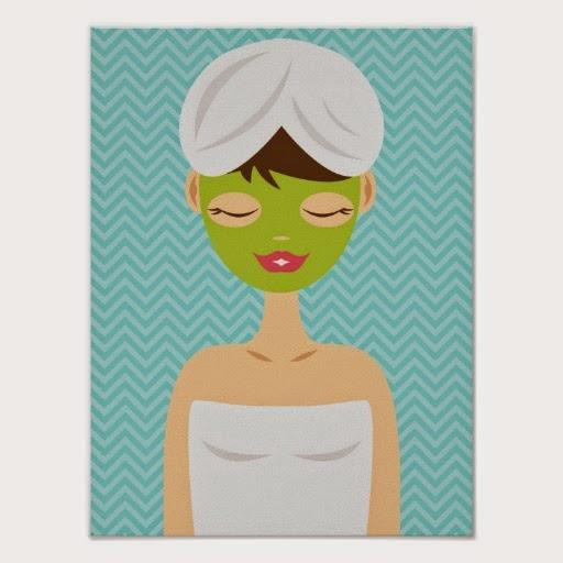 Baño De Arcilla Verde:bano_de_la_mujer_del_balneario_con_una_mascarilla_poster