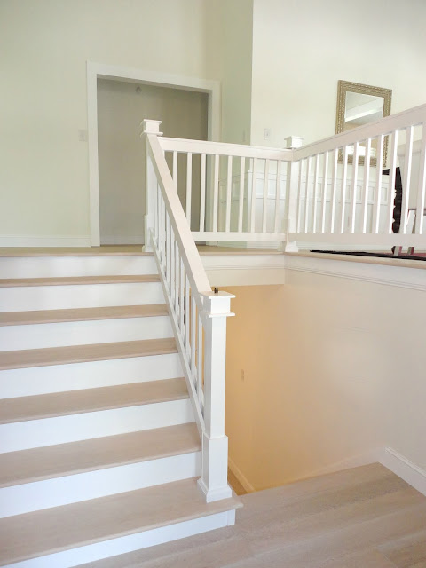 The stair treads had to be custom matched to our flooring, and I was so  thrilled to see how flawlessly they were done.