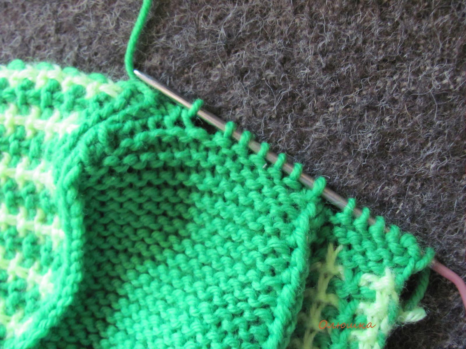 Вязание тапочки на спицах без швов 53