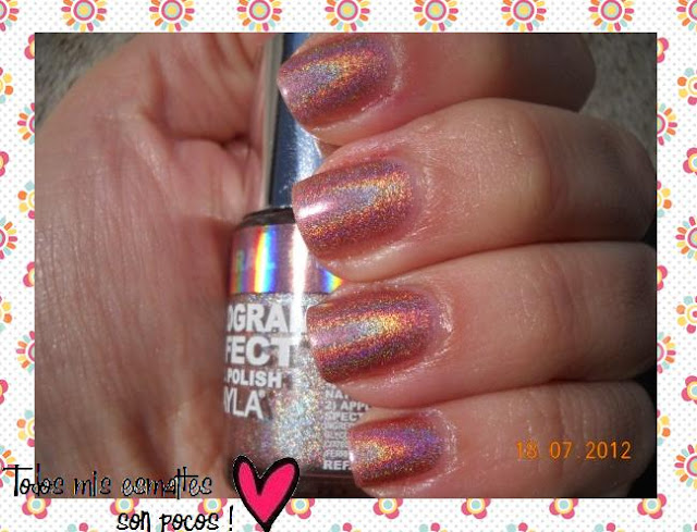 Coral Glam Layla holográfico