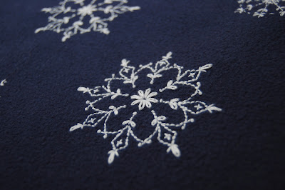 Snowflake Hand Embroidery SeptemberHouse