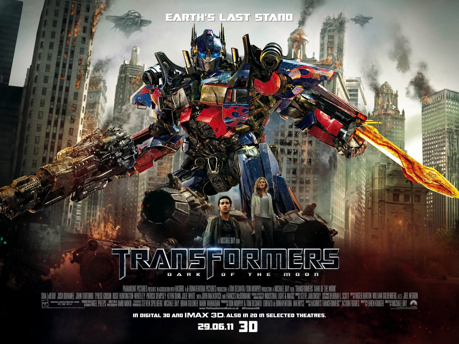 Transformers: Dark of the Moon in 3D 2011 Full Length Movie