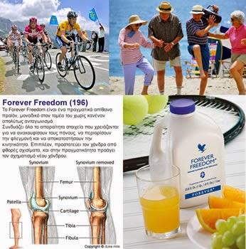 Công dụng Forever Freedom dinh dưỡng cho xương khớp