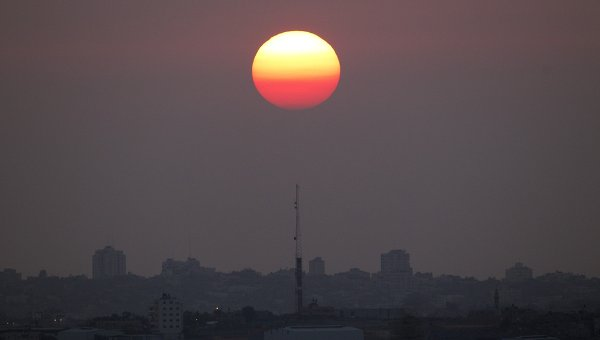 the Sun over Israel
