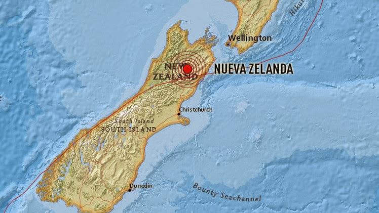 TERREMOTO DE 6,2 GRADOS SACUDE LA ISLA SUR DE NUEVA ZELANDA SIN ALERTA DE TSUNAMI