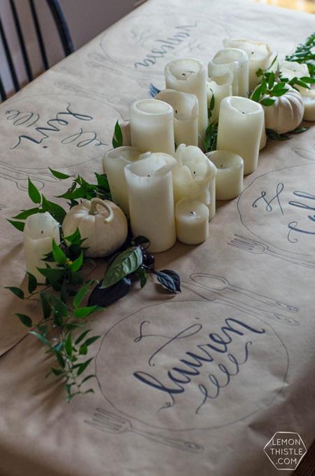 deco mesa navidad handmade