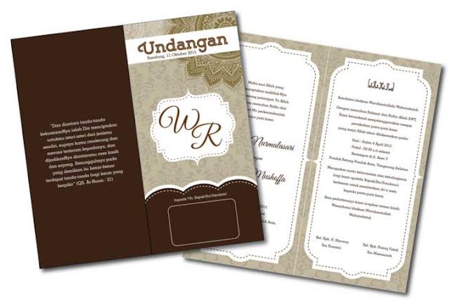 desain undangan vintage coklat