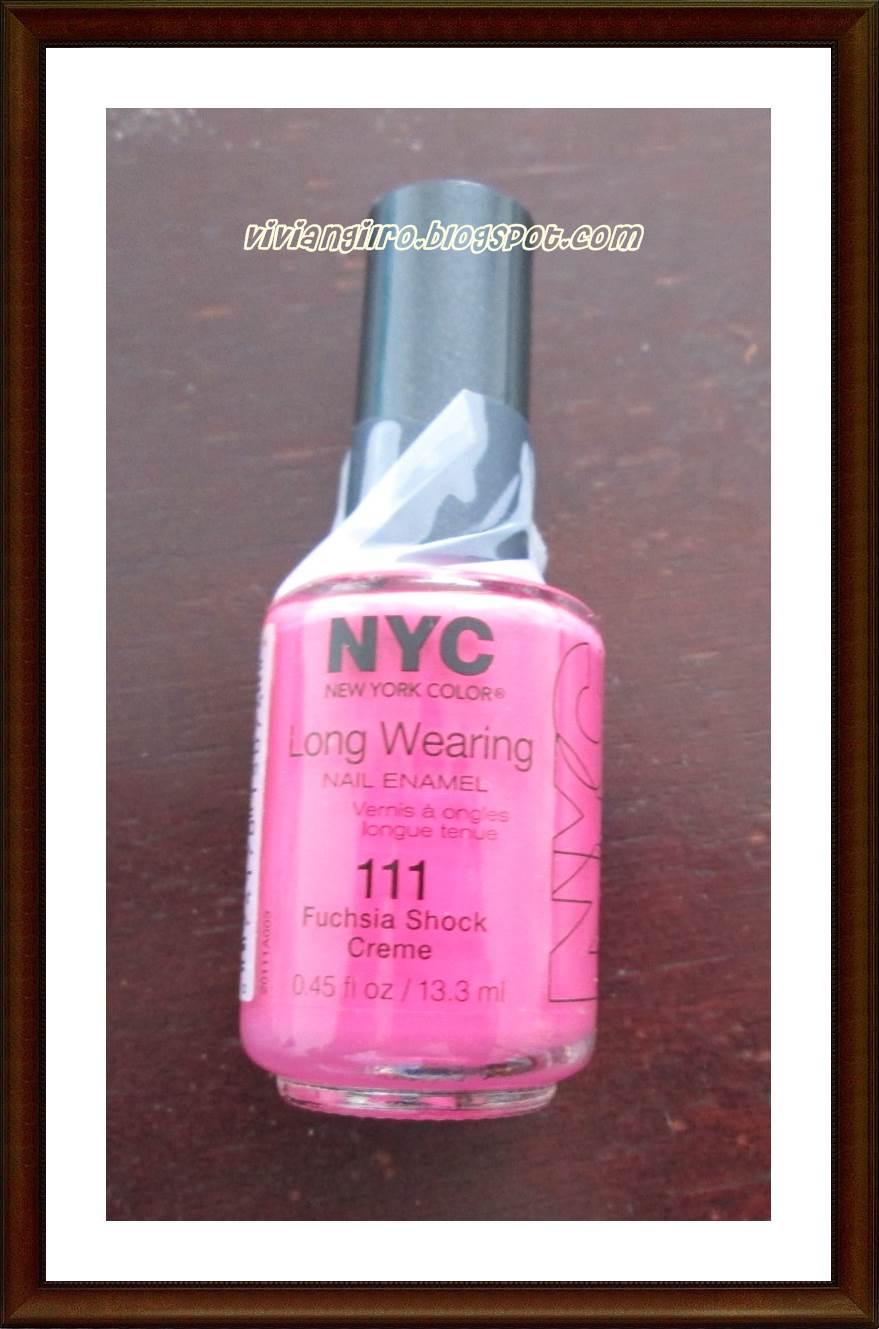 Probando el 111 Fuchsia Shock Creme de NYC ~ Viviangilro