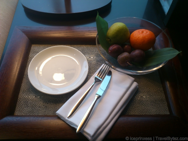 A welcome fruit platter