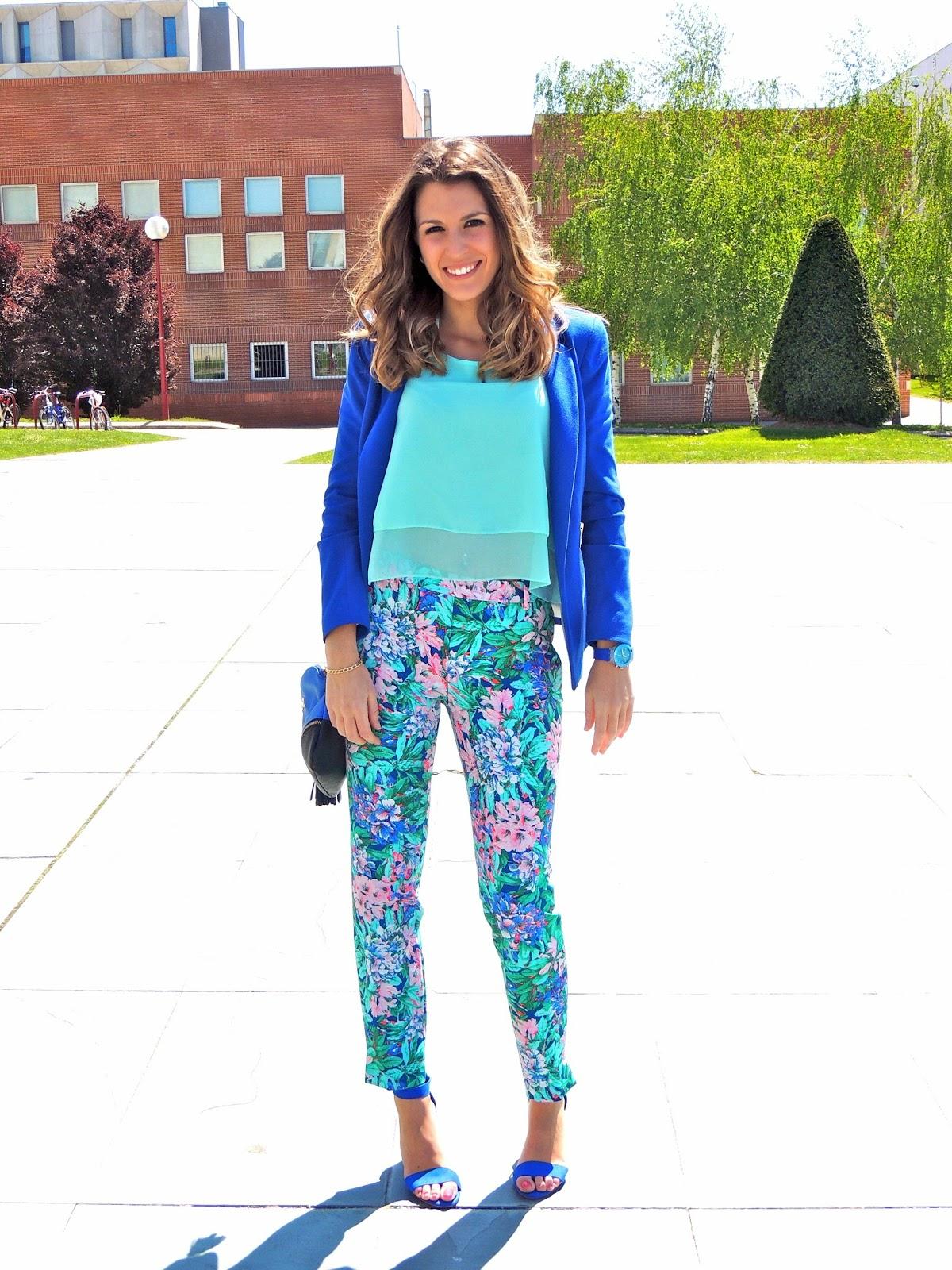 floral pants zara