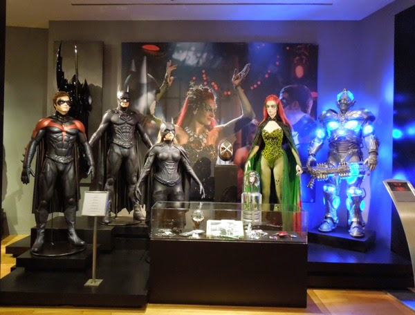 Original Batman and Robin movie costume prop exhibit