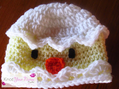 Cracked-Egg-Crochet-Chick-Hat