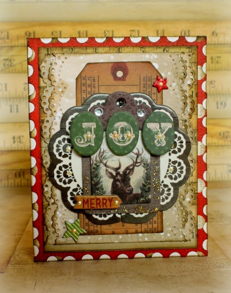 Joy Card by Romy Veul for BoBunny featuring Christmas Collage