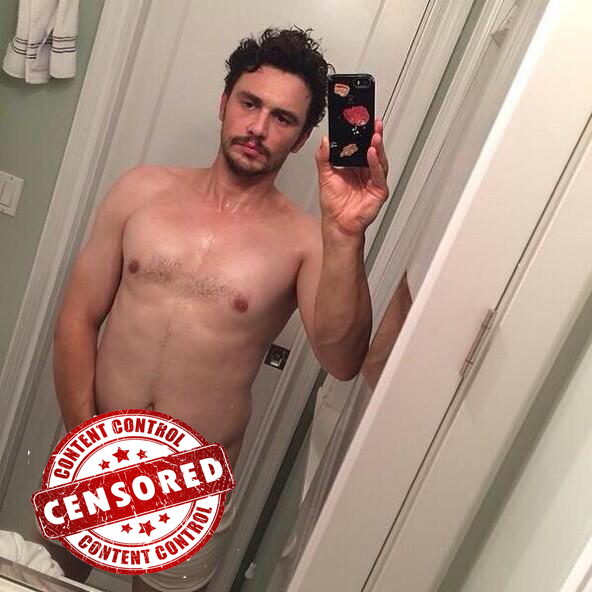 James Franco posted on Instagram a scandalous semi-nude selfie