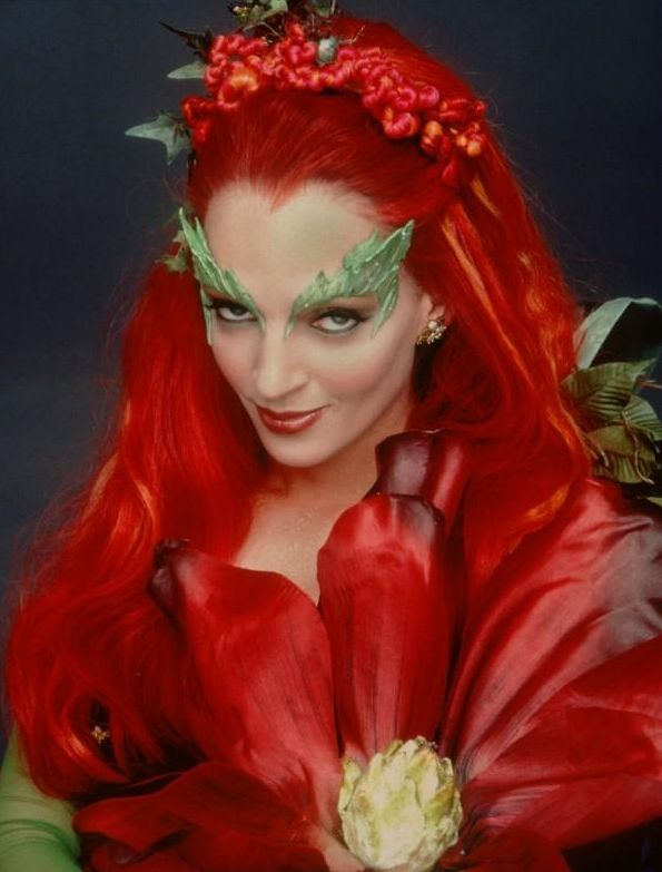 batman poison ivy costume. poison ivy costume makeup.